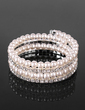 Chic Ladies' Rhinestone Strand/Tennis Bracelet In Pearl  (095017940)