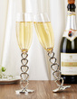 Personalized Heart design Glass/Aluminum Toasting Flutes (Set of 2) (126039784)