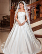 One-tier Cathedral Bridal Veils With Lace Applique Edge (006024488)