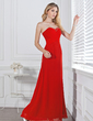Empire Sweetheart Floor-Length Chiffon Bridesmaid Dress With Ruffle Beading (007001112)