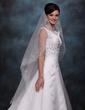 One-tier Waltz Bridal Veils With Cut Edge (006020352)