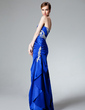 Trumpet/Mermaid Sweetheart Floor-Length Charmeuse Evening Dress With Beading Cascading Ruffles (017004185)