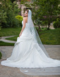 One-tier Cut Edge Cathedral Bridal Veils With Applique (006026639)