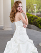 Ball-Gown Sweetheart Chapel Train Satin Wedding Dress With Ruffle Lace Beading (002000432)