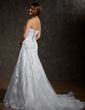 A-Line/Princess Sweetheart Court Train Satin Organza Wedding Dress With Ruffle Lace Beading (002012207)