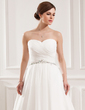 Ball-Gown Sweetheart Court Train Chiffon Wedding Dress With Ruffle Beading (002019533)