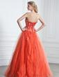 Balo Elbisesi Askısız Uzun Etekli Satin Tulle Quinceanera (15 Yaş) Elbisesi Ile Büzgü Boncuklama Aplike (021005242)