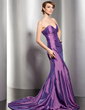 Trumpet/Mermaid Sweetheart Court Train Taffeta Evening Dress (017014535)
