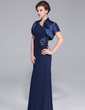 Short Sleeve Satin Special Occasion Wrap (013029233)