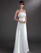 Empire Floor-Length Charmeuse Evening Dress With Embroidered Ruffle Beading (017002605)