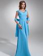 Çan/Prenses Off-Omuz Uzun Etekli Şifon Gelin Annesi Elbisesi Ile Büzgü Dantel (008006115)