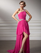 A-Line/Princess One-Shoulder Asymmetrical Chiffon Prom Dress With Ruffle Beading (018021089)