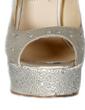 Women's Satin Stiletto Heel Peep Toe Platform Sandals With Rhinestone (047026585)
