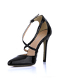 Patent Leather Stiletto Heel Pumps Closed Toe With Buckle shoes (085022592)