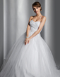 Ball-Gown Sweetheart Chapel Train Tulle Wedding Dress With Ruffle Beading Sequins (002014800)