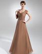 Çan/Prenses Kalp Kesimli Uzun Etekli Chiffon Gelin Annesi Elbisesi Ile Büzgü Boncuklama (008015734)