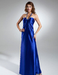Empire Halter Floor-Length Charmeuse Holiday Dress With Ruffle Beading (008015350)