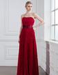 Çan/Prenses Kalp Kesimli Uzun Etekli Chiffon Charmeuse Nedime Elbisesi (007001831)