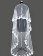 Einschichtig Kapelle Braut Schleier mit Spitze Saum (006031080)