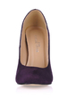 Suede Stiletto Heel Pumps Closed Toe shoes (085017511)