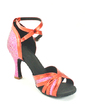 Women's Leatherette Heels Sandals Latin With Ankle Strap Dance Shoes (053057162)