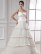 Ball-Gown Sweetheart Floor-Length Organza Wedding Dress (002015480)