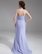 A-Line/Princess Sweetheart Sweep Train Chiffon Mother of the Bride Dress With Ruffle Beading Cascading Ruffles (008006546)