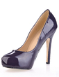Patent Leather Stiletto Heel Pumps Platform Closed Toe shoes (085020561)