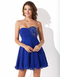 Empire Sweetheart Short/Mini Chiffon Homecoming Dress With Ruffle Beading (022010906)