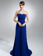 A-Line/Princess Strapless Court Train Chiffon Mother of the Bride Dress With Ruffle Sash (008015392)