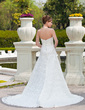 Corte A/Princesa Escote corazón Cola capilla Encaje Vestido de novia con Bordado (002000118)