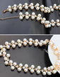 Fashional Pearl/Gold Plated With Rhinestone Ladies' Necklaces (011055392)