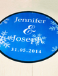 Personalized Snowflake PVC Dance Floor Decals (118033739)