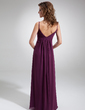 Empire Sweetheart Floor-Length Chiffon Bridesmaid Dress With Ruffle Flower(s) (007004300)