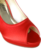 Kadın Satin İnce Topuk Peep Toe Platform Pompalar Ile Yapay elmas (047057373)
