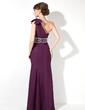 Denizkızı Tek-Omuzlu Uzun Etekli Chiffon Gece Elbisesi (017005817)