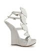 Patent Leather Wedge Heel Sandals Platform Wedges shoes (087026662)