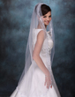 One-tier Waltz Bridal Veils With Lace Applique Edge (006003745)