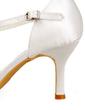 Satin Plastic Stiletto Heel Closed Toe Pompy Buty ślubne Z Klamra (047010763)