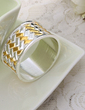 Gold and Silver Cross Design Napkin Rings (122031246)