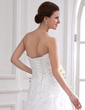 A-Line/Princess Sweetheart Chapel Train Lace Wedding Dress With Beading (002000185)