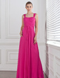 A-Line/Princess Sweetheart Floor-Length Chiffon Bridesmaid Dress With Ruffle (007005310)