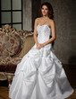 Ball-Gown Sweetheart Floor-Length Taffeta Quinceanera Dress With Ruffle Beading (021002870)