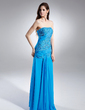 A-Line/Princess Sweetheart Floor-Length Chiffon Prom Dress With Ruffle Beading Sequins Split Front (018015617)