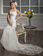 Trumpet/Mermaid Sweetheart Cathedral Train Tulle Wedding Dress With Beading Appliques Lace (002000641)