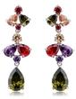 Unique Alloy With CZ Cubic Zirconia Women's Fashion Earrings (011036696)