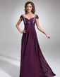 Empire Sweetheart Floor-Length Chiffon Mother of the Bride Dress With Ruffle Beading (008006047)