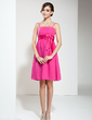 Empire Knee-Length Chiffon Bridesmaid Dress With Beading Bow(s) (007020883)