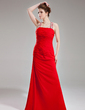Sheath/Column Halter Floor-Length Chiffon Evening Dress With Ruffle Beading Sequins (017002264)