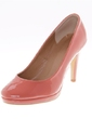 Leatherette Stiletto Heel Pumps Closed Toe shoes (085039120)